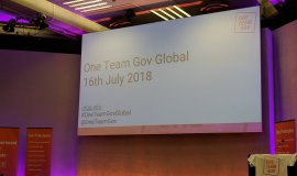 Opening scene of the One Team Gov Global event