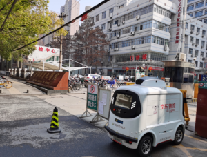 Wuhan medical drone in operation