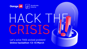 Estonia Hack the Crisis event banner